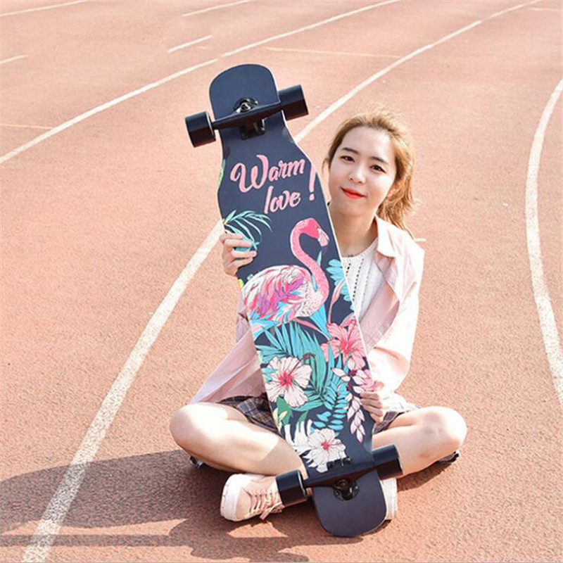 4 Wheels Maple Complete Skate Dancing Longboard Deck Downhill Drift Road Street Skate Board Longboard For Adult Youth wooden 22 27 skateboards mini longboard complete peny skate board canadian maple skateboard deck adult children 4 wheel skates