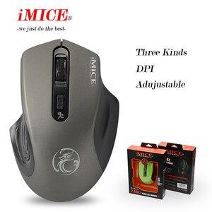 Image 2 - Беспроводная мышь iMICE 2000DPI, Регулируемая оптическая компьютерная мышь USB 3,0 с приемником 2,4 ГГц, эргономичные мыши для ноутбука, ПК, мыши