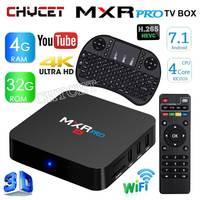 Newest MXR PRO Android 7 1 Smart TV BOX RK3328 Quad Core 64bit 4G 32G 4K