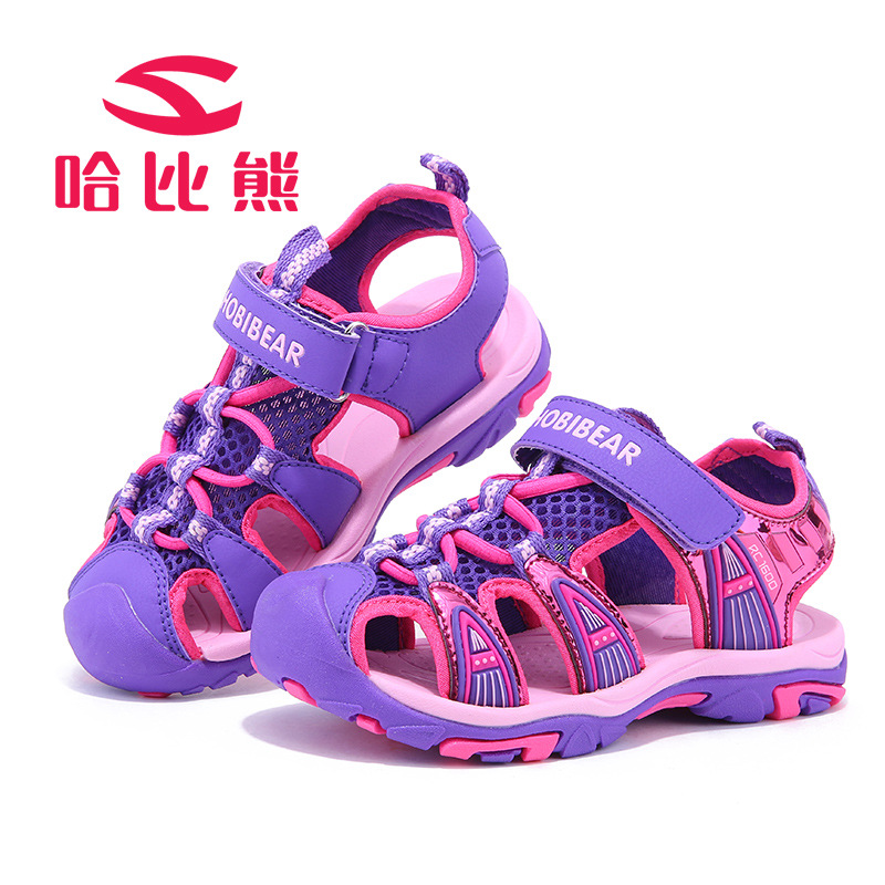 HOBIBEAR 2017 Summer Kids Sandals Closed-toe Boys Sandals Comfortable Girls Sandals Children Beach Shoes For Girls Shoes FASHION