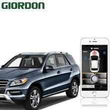 Смартфон Автомобильная сигнализация совместима с ios и android телефон система остановки автомобиля дистанционный умный ключ автомобильный БЕСКЛЮЧЕВОЙ 686A + B