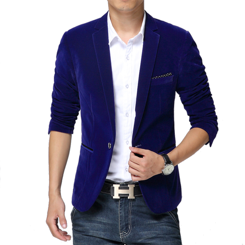 popular blue velvet blazer buy cheap blue velvet blazer lots from china blue velvet blazer. Black Bedroom Furniture Sets. Home Design Ideas