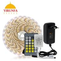 Doppel Farbe Led Streifen Licht 5025/2835 Kalt Weiß + Warm Weiß 12 V Streifen 5 M + CT remote Controller + 12 V 3A Netzteil|LED-Streifen|   -