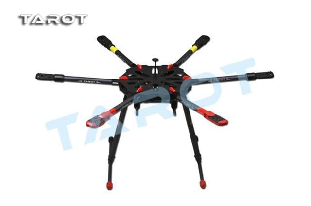Tarot f11283 tl6x001 helicopte rc recambio: rc drone x6 todo hexa carbono kit con retráctil landing skid