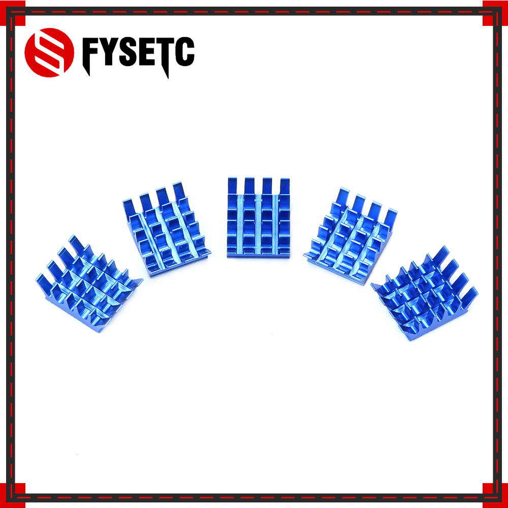 5pcs Raspberry Pi Spiky Heatsinks Cooler Aluminum Blue With Adhesive Heat Sink For Cooling Raspberry Pi 3 / 2 Model B