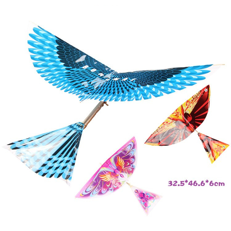 Rubber Band Power Bird Models Toy Children's Puzzle New DIY Kite Bionic Air Plane Action Assembly Gift Parent-child Interaction