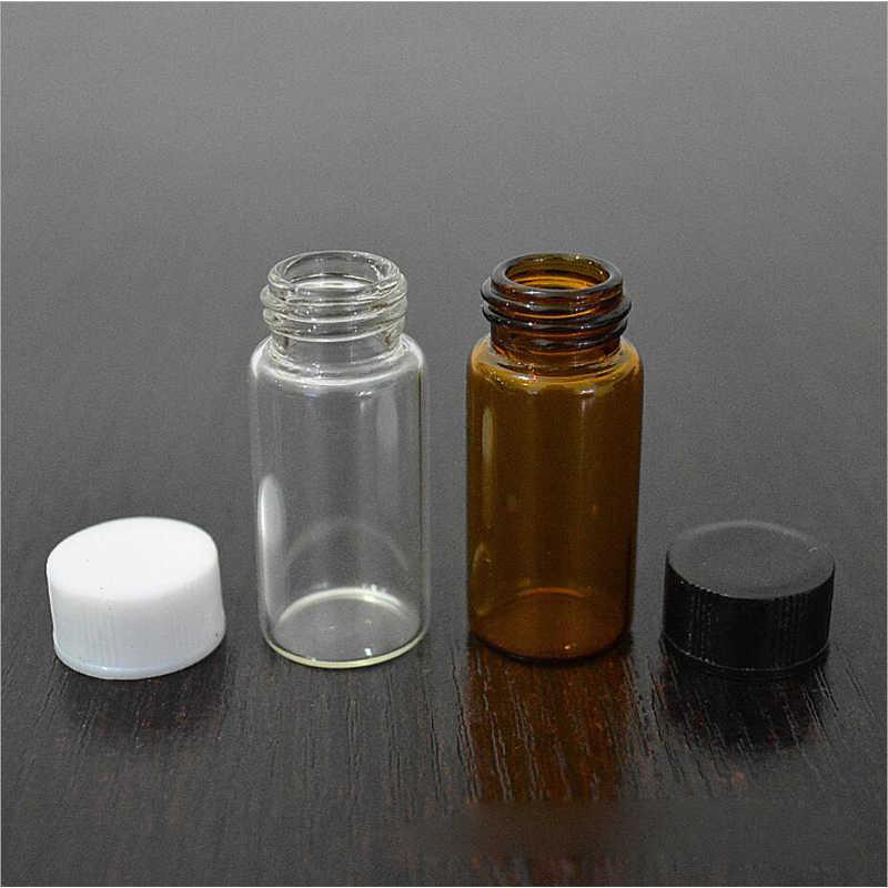 cc046e7f60c7 10Pcs 3ml/5ml Clear Transparent Amber Small Glass Vials Bottles ...