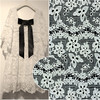 Lace Fabric Crean White And Black Polyester Lace Wedding Fabric 55 Width Non Stretch