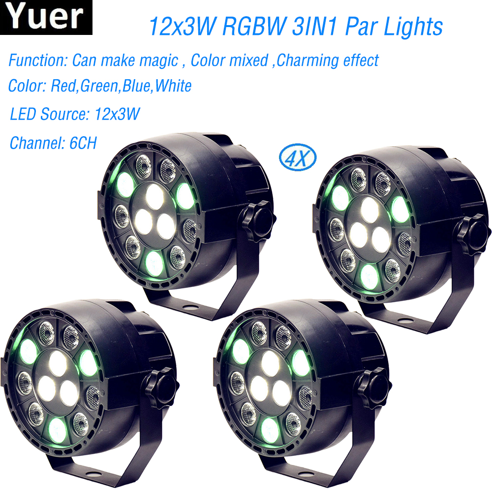 Practical 4pcs/lot High Quality 12 Led Par Stage Light Led Rgbw Dmx Dream Colour Wide Use For Club Dj Show Home Party Ballroom Bands New Commercial Lighting Lights & Lighting
