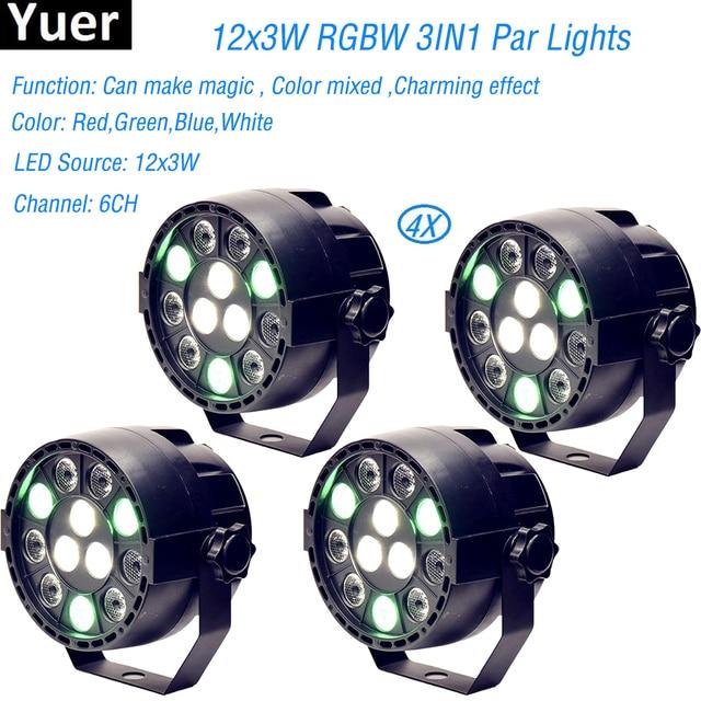 4Pcs/Lot High quality 12 Led Par Stage Light LED RGBW DMX Dream Colour Wide use for Club Dj show Home party Ballroom Bands NEW