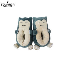 Anime Snorlax Slippers Animal Party Cartoon Character Women Men Unisex Adult 35 42 Size Winter Kawaii Shoes Wholesale