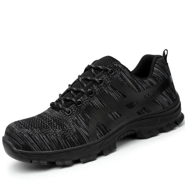 Puntale in acciaio di grandi dimensioni stivali da lavoro scarpe di sicurezza traspirante bot estate anti-puntura utensili scarpe da lavoro basse proteggere calzature