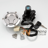 Motorcycle Ignition Switch Fuel Gas Tank Cap Cover Seat Lock Key Set For Kawasaki Ninja 250R EX250 08 12 Ninja 300 EX300 13 15