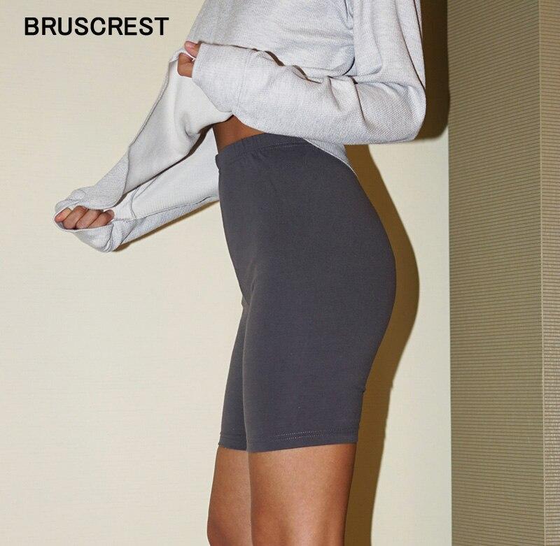 Cotton Cute Basic Mini Biker Shorts Elastic High Waisted Shorts For Women Summer Vintage Sexy Stretch Short Pants