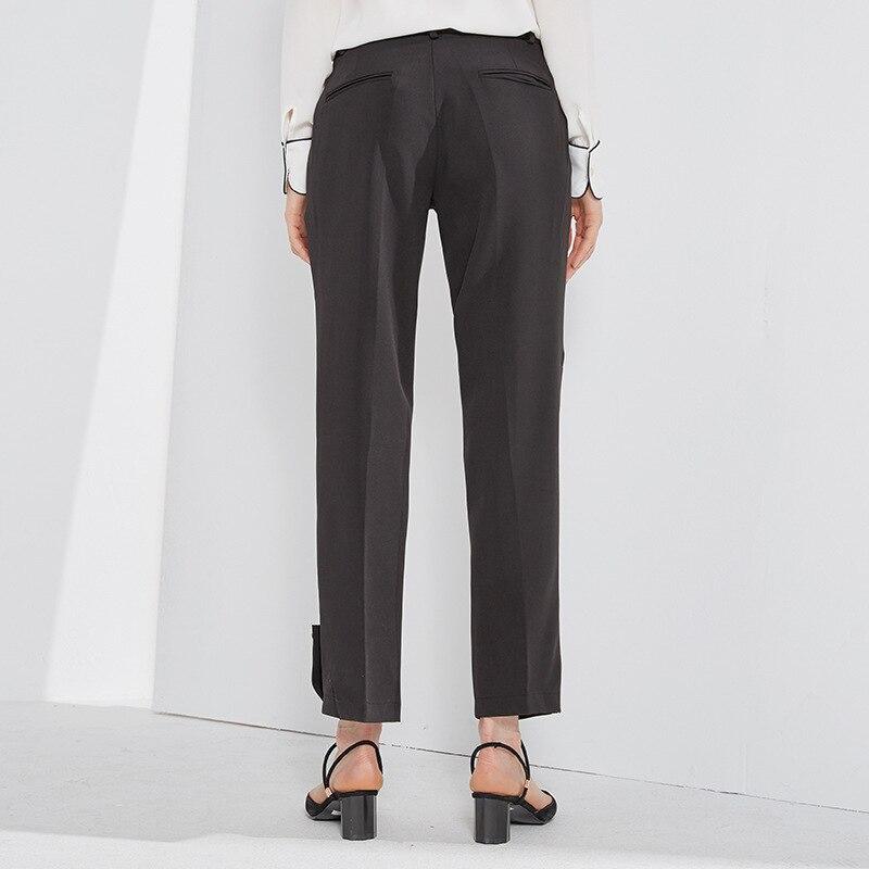 Moda La Bootyjeans Señora Tobillo Cintura Las Alta Oficina De Longitud Otoño Nueva 2018 Mujeres Anchos Pantalones xTxUqvX
