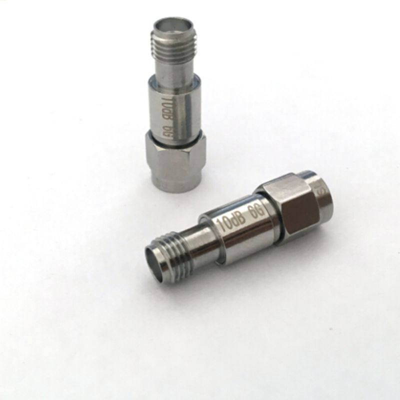 2W SMA  Coaxial RF Attenuator DC to 6.0GHz 50ohm,1/2/3/5/6/10/15/20/30/40/50/60dB 2w sma rf blocking filter dc block connector dc 8g