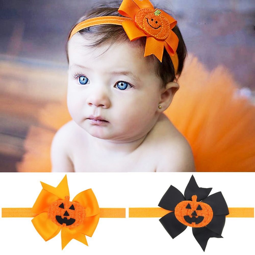 7cb670d86115 Baby Girl Halloween Headband Bow headband for Newborn Infants Baby Hair  Bows Children Hair Accessories Photo Prop