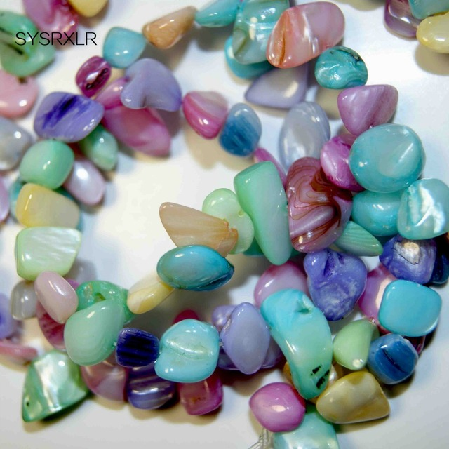 Aliexpress buy high quality branelli coloured shell through do high quality branelli coloured shell through do it yourself gravel material chip hand beads creation solutioingenieria Images
