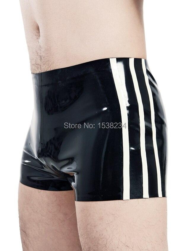 Латексные боксеры, мужское сексуальное резиновое нижнее белье с отделками, пляжная одежда, популярные штаны