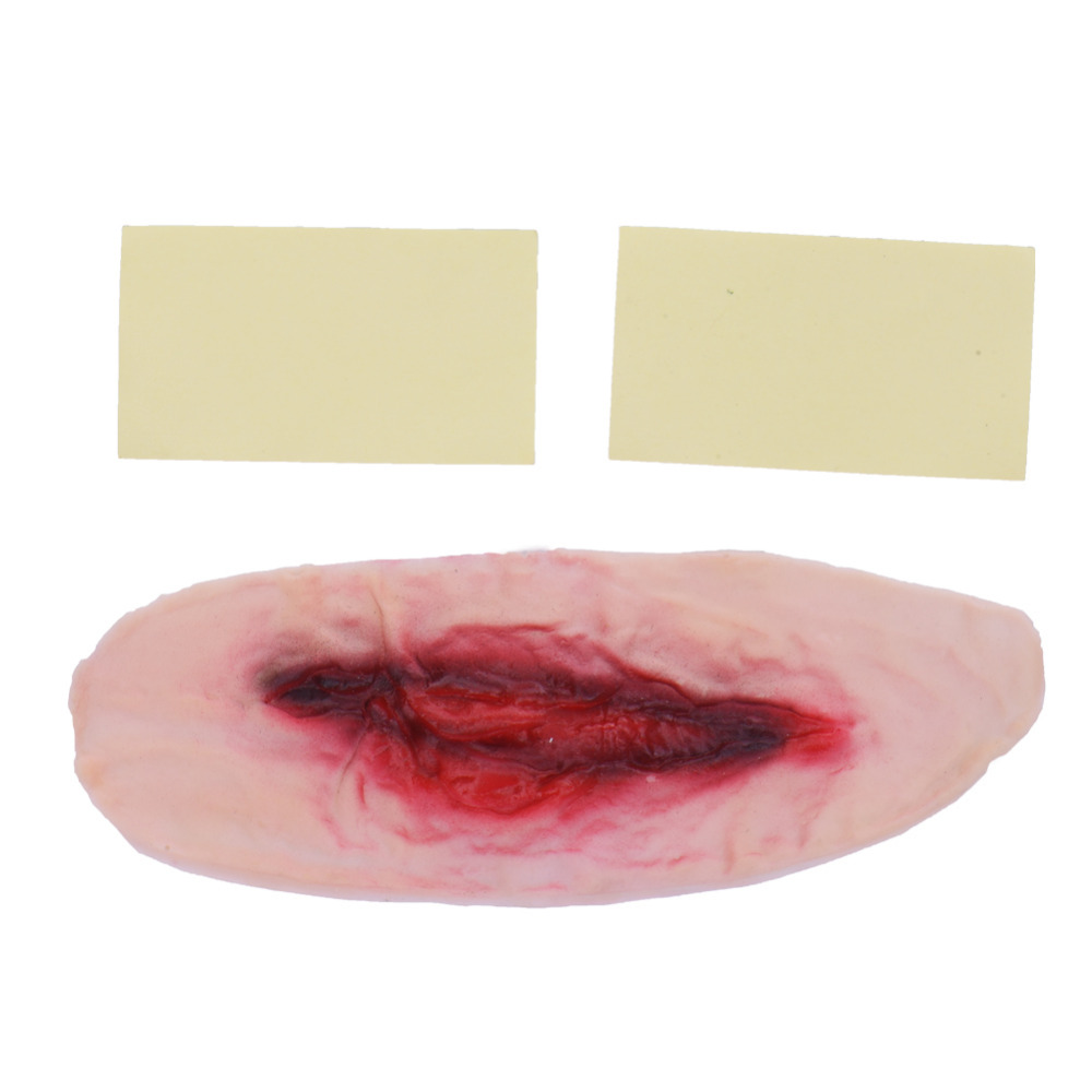 Slit throat scar wax bing images for Cut throat tattoo