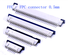 50pcs FFC / FPC connector 0.5mm 4 Pin 5 6 7 8 10 12 14 16 18 20 22 24 26 28 30P Drawer Type Ribbon Flat Connector Top Contact