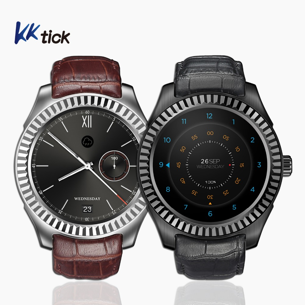 KKtick D7w Android 4.4 Smartwatch Compagnon Montre MT6572 avec 500 mAh Capacité De La Batterie Boussole Wifi