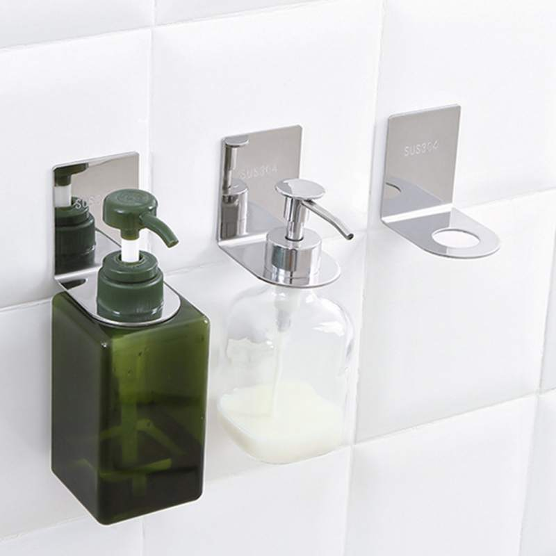 Multi function Bathroom Rack Punch free Non Perforated Toilet Wall Mount Stainless Steel Shampoo Shower Bath Bottle Haning Rack in Storage Holders Racks from Home Garden