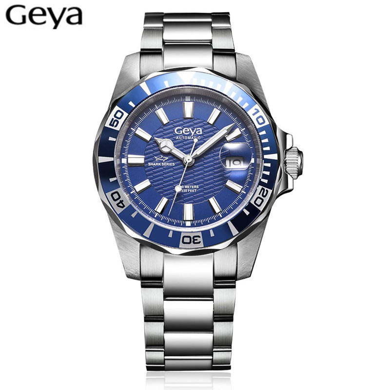 Hot Sale Geya Mens Watches Top Brand Luxury Sapphire Glass 100M waterproof Automatic Mechanical Watch Men Sport Role Style Watch