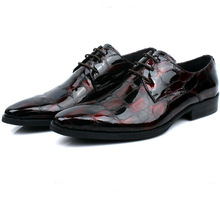 Мода черный/красный вино мужские туфли лакированной кожи oxfords бизнес обувь мужская свадебные туфли бесплатная доставка