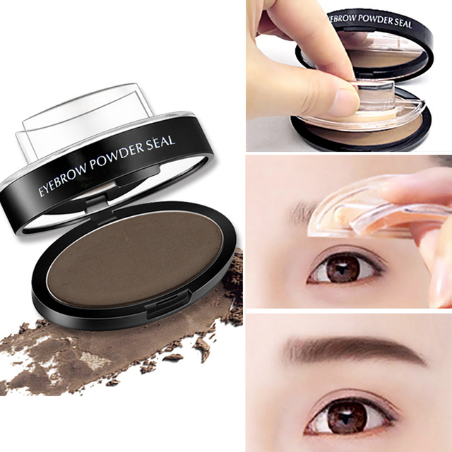 Waterproof Eye Brow Stamp Powder Perfect Eyebrow Power Seal Nature Delicate Shap For Eyebrows Palette 1