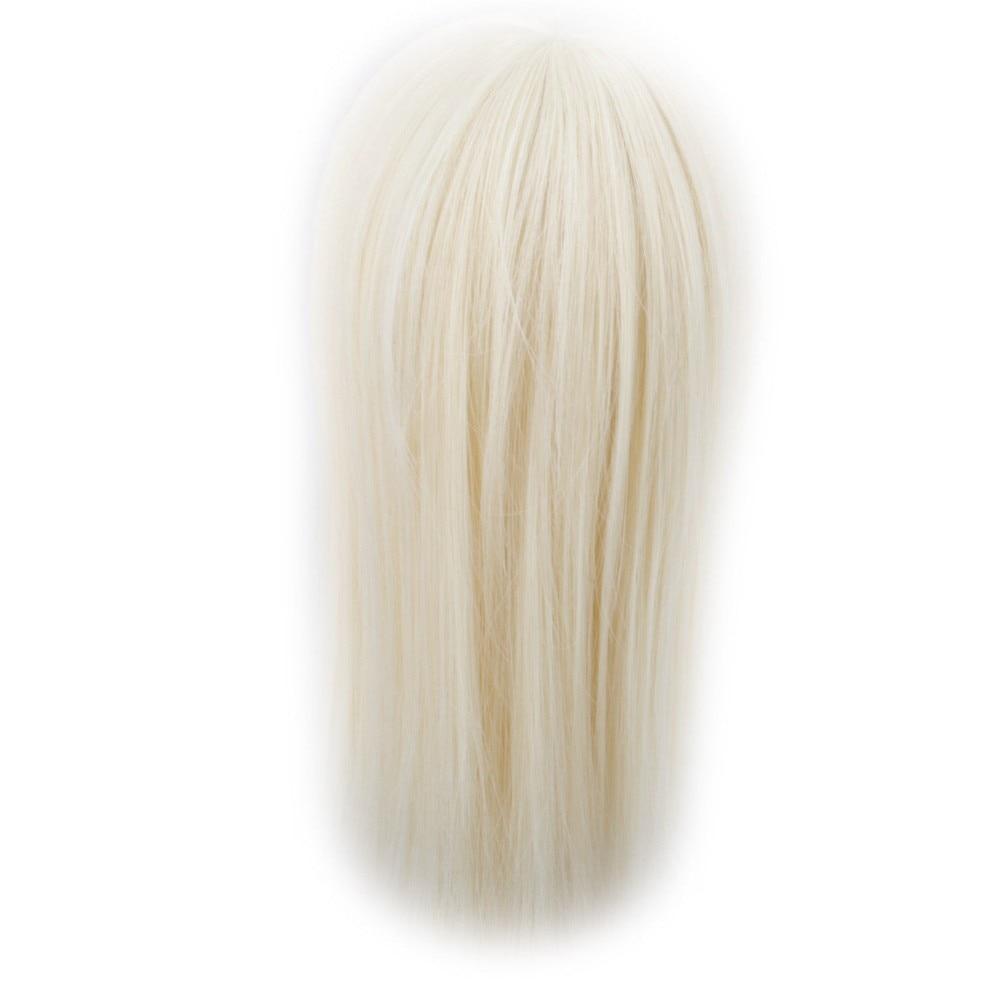 Silver grey Straight Hair Extension//DIY Hair Wig For BJD Dollfie 1pc wamami