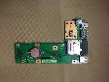 Оригинал DC кнопка Питания Разъем Платы Для ASUS K52 K52J K52DR X52J X52F K52F K52JC K52JR 60-NXMDC1000 3DKJ3DB0000 USB слот для карты SD