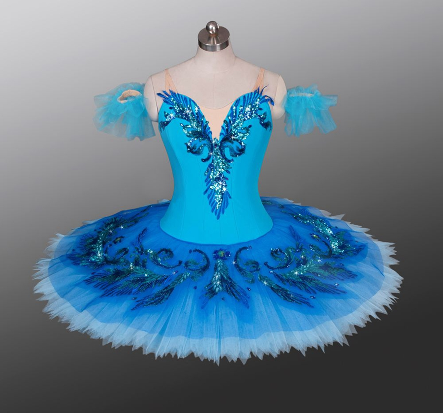 Women Lake Blue Professional Ballet Tutu Classical Performance Competition Ballerina Ballet Stage Costume Pancake Tutu Blue Bird