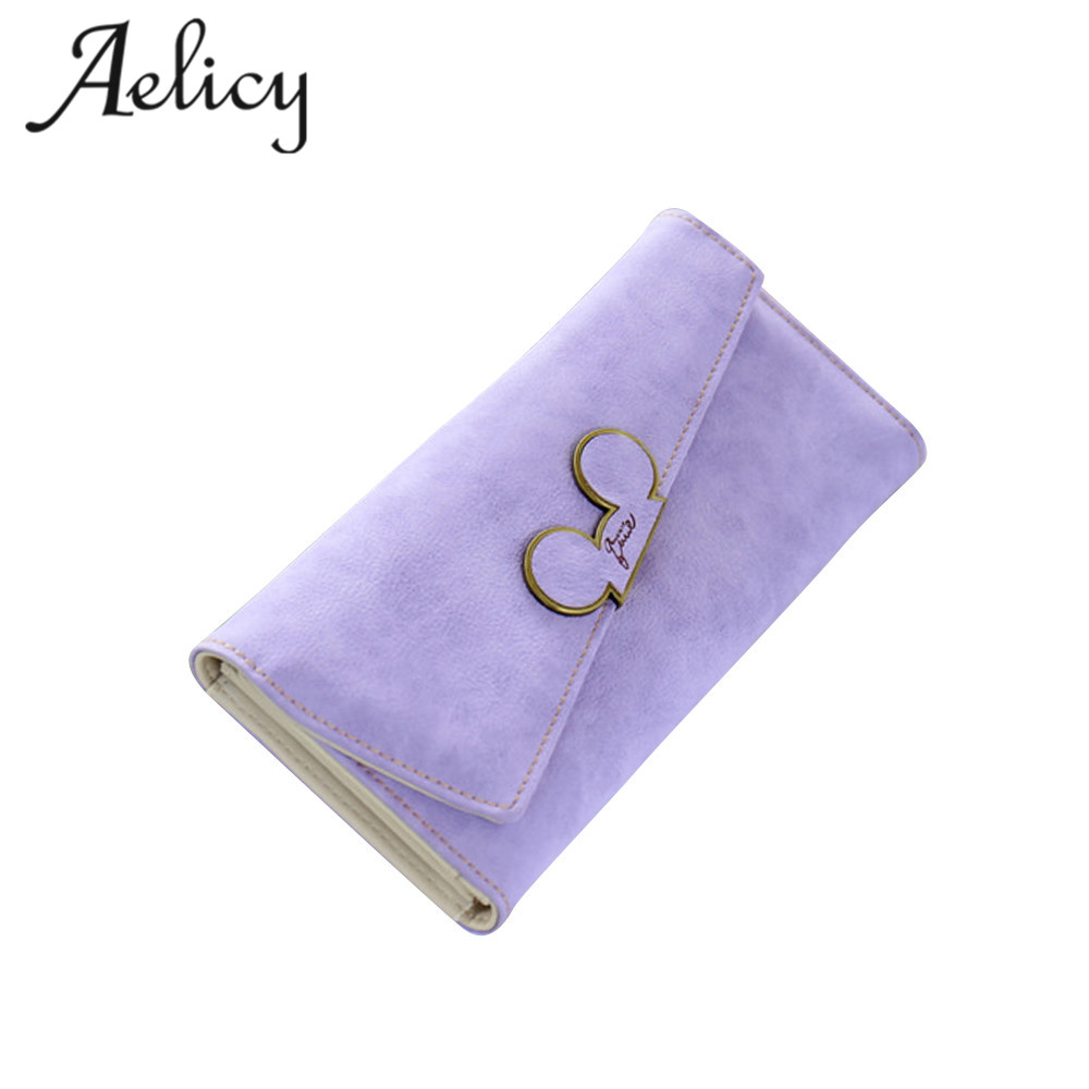 Aelicy 2017 New Fashion Designer Candy Color Scrubs Long Women Wallet Ladies Purse Coin Purses Card Holders Lady Pocket Wallets цена