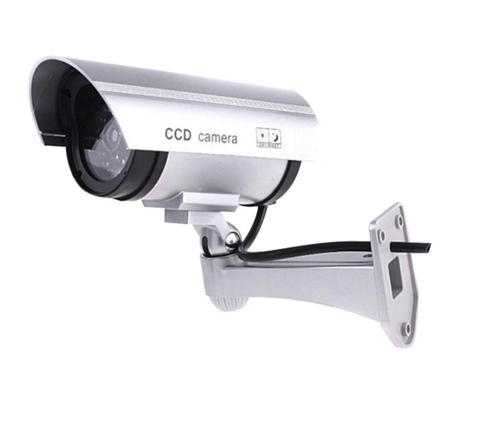 Inesun Câmera De Segurança Falso Manequim Vigilância Bala Câmera de CCTV Ao Ar Livre Indoor com Luz LED