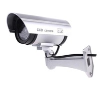 цена на Inesun Fake Security Camera Bullet Dummy Surveillance CCTV Camera Outdoor Indoor with LED Light