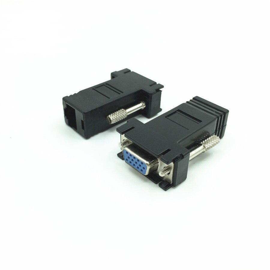 Fêmea para Lan Fonte de Alimentação Externa de Alta Lote Extensor Vga Cat5 Cat5e 6 Rj45 Ethernet Adapter Feminino Não Exige Nenhuma Qualidade 200 Pçs –