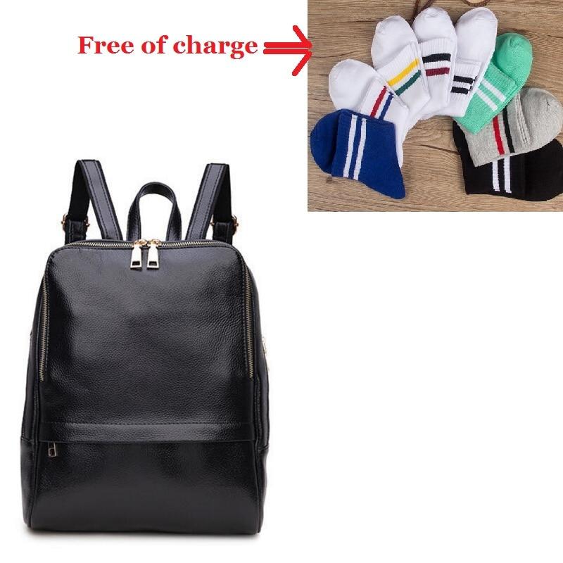 Genuine Leather Backpack Women Backpacks Soft Leather Female School Bags For Girls Hot Fashion Women Backpack Taravel Bag #2