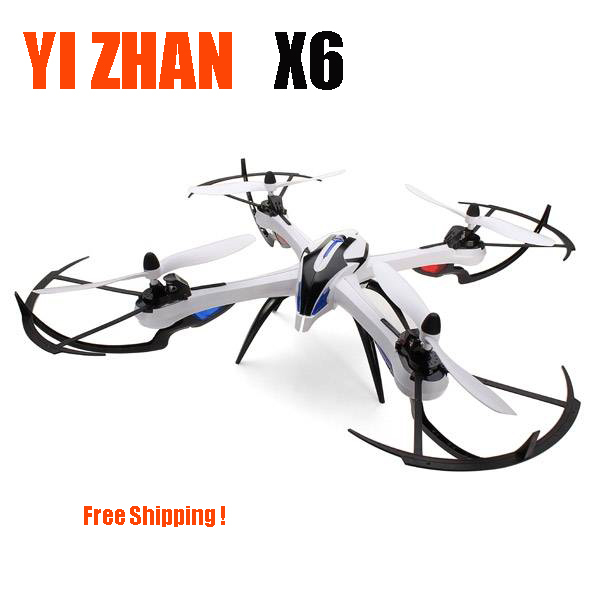 YiZhan Tarantula X6 Quadcopter 6-CH 2.4GHz LCD Remote Control RC Quadcopter UFO with 6-Axis Gyro/LED Light RTF RC Helicopter wltoys v676 2 4ghz 4 ch outdoor r c ufo helicopter aircraft w 6 axis gyro lamp white green