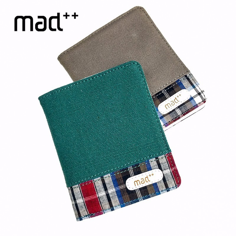 Men Male Fashin Canvas Short Bifold Wallet ID Bank Credir Card Case Holder Women Female Wallets And Purse Student Teens Wallet metal credit card wallet women men bank card bag black card case bus id holders identity badge with badge reel py062