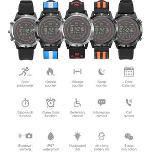 Image 5 - Nashone メンズ腕時計防水スマートウォッチ歩数計コールリマインダ多機能ステンレス鋼スポーツ時計デジタル時計