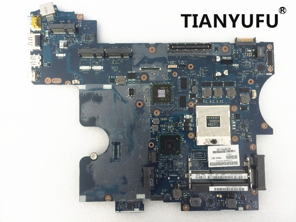 For Dell Latitude E6520 Motherboard 0GXMFX 0TJC14 LA 6563P REV1 0 Laptop Motherboard tested 100 work