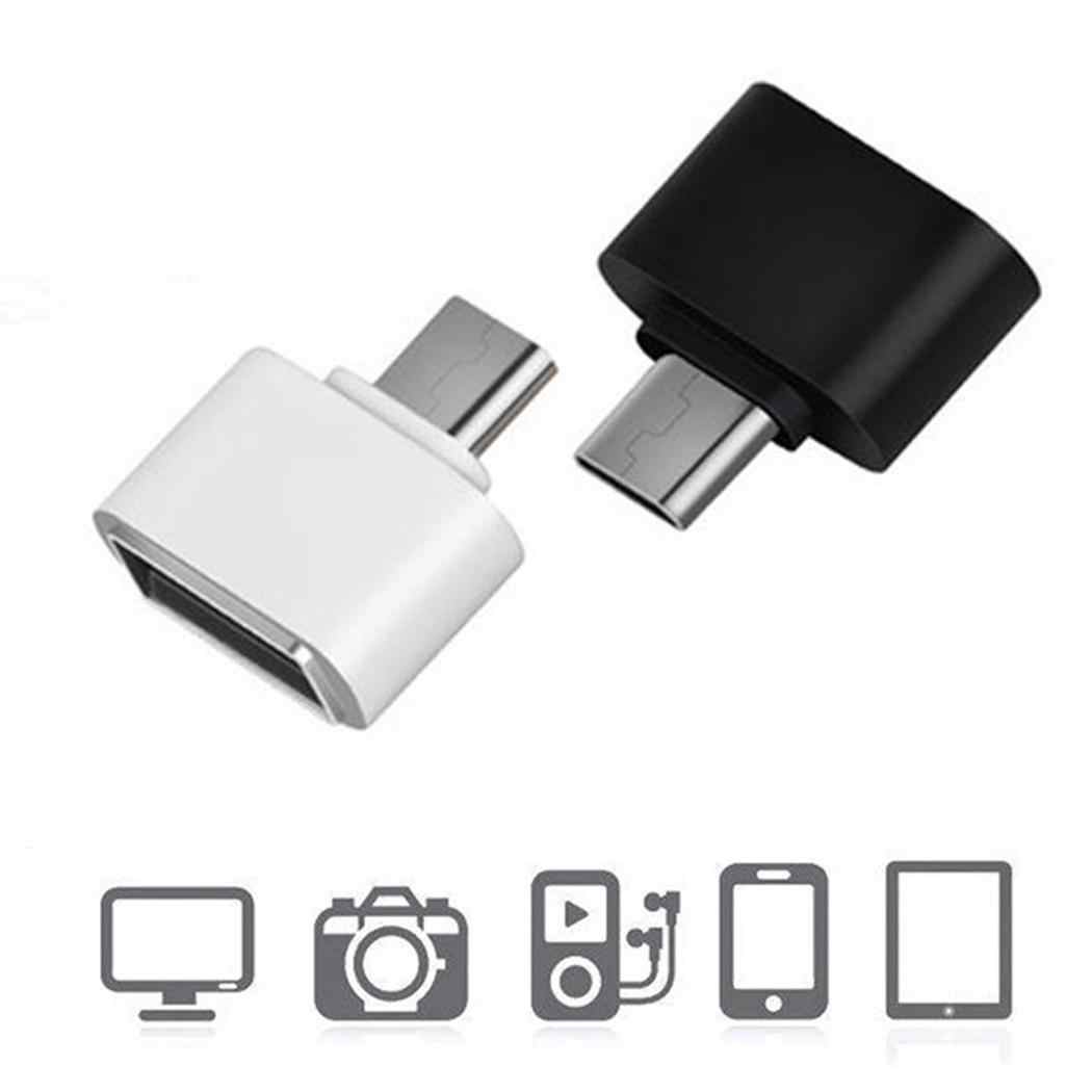 Telepon Umum Kabel Data OTG Micro USB 2.0 V8 Sel Ponsel Kamera TV Android untuk Huawei Xiaomii Samsung hitam Putih
