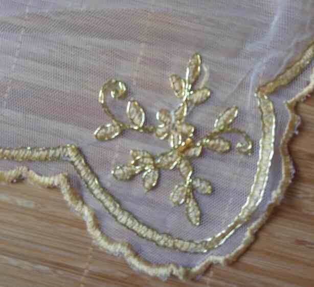 Mewah Emas Tatakan Cangkir Teh Coaster Mug Dapur Meja Tempat Tikar Kain Renda Bordir Hidangan Kopi Doily Natal Piring Pad