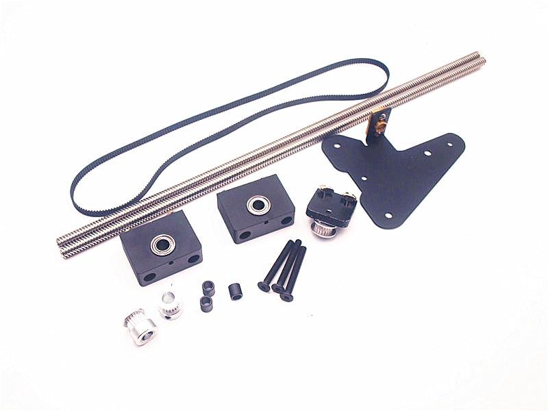 CR-10 760mm ENDER 610 mmdual Z axe kit de mise à niveau pour la créalité CR-10/ENDER3 3D imprimante simple moteur double Z axe poulie