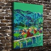 A1823 LeRoy Neiman Colorful Abstract Horse Racing HD Canvas Print Home Decoration Living Room Wall Pictures
