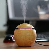 FEA Wood Grain Aromatherapy Essential Oil Diffuser LED Lights Ultrasonic Cool Mist Aroma Air Humidifier For