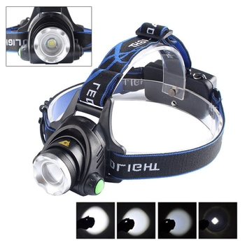 High Bright 5000LM CREE XM-L T6 LED Headlamp Zoomable Headlight Waterproof Head Torch flashlight Lamp Fishing with Warning Lamp 1