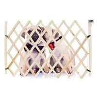 Folding Cat Pet Dog Barrier Wooden Safety Gate Expanding Swing Puppy Fence Door Simple Stretchable Wooden Fence