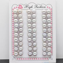 цена на Gray Button pearl freshwater pearl 3mm -- 12mm color button pearl